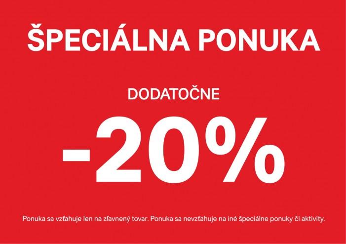 ŠPECIÁLNA PONUKA  DODATOČNE - 20 % NA VŠETOK ZĽAVNENÝ TOVAR - Aupark ... 8ed0592660a